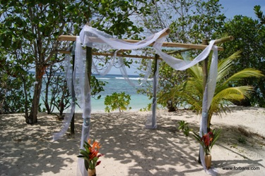 Weddings in the Seychelles @ Chalets Anse Forbans